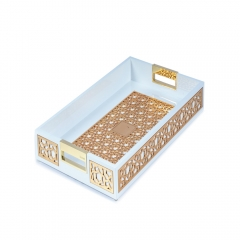Wholesale Engraved Wood Arab serving tray With Gold Foiled
