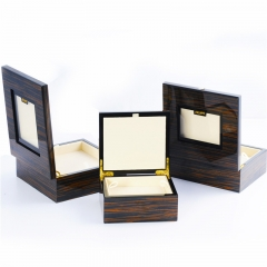 Wooden Box with Clear Window Acrylic Window Box for gift Packaging