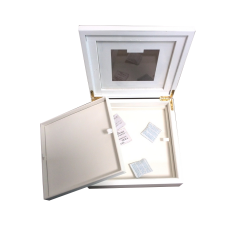 Luxury Double Layer White Wooden Chocolate Box with Window