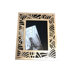 High Quality Rectangle Gold Wooden Photo Frame With Engraved Lid