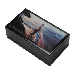 High Quality Fashion Gift  Luxury Piano Painting Wooden  Box with Glossy Painting