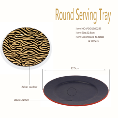 Round  Beautiful High-end Wooden Serving Tray Wholesale For Hotel/Home/Coffee Store,etc.