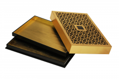 Wholesale Wooden Engrave Box Laser Cutting Wood Box Gold Foil Wooden Box