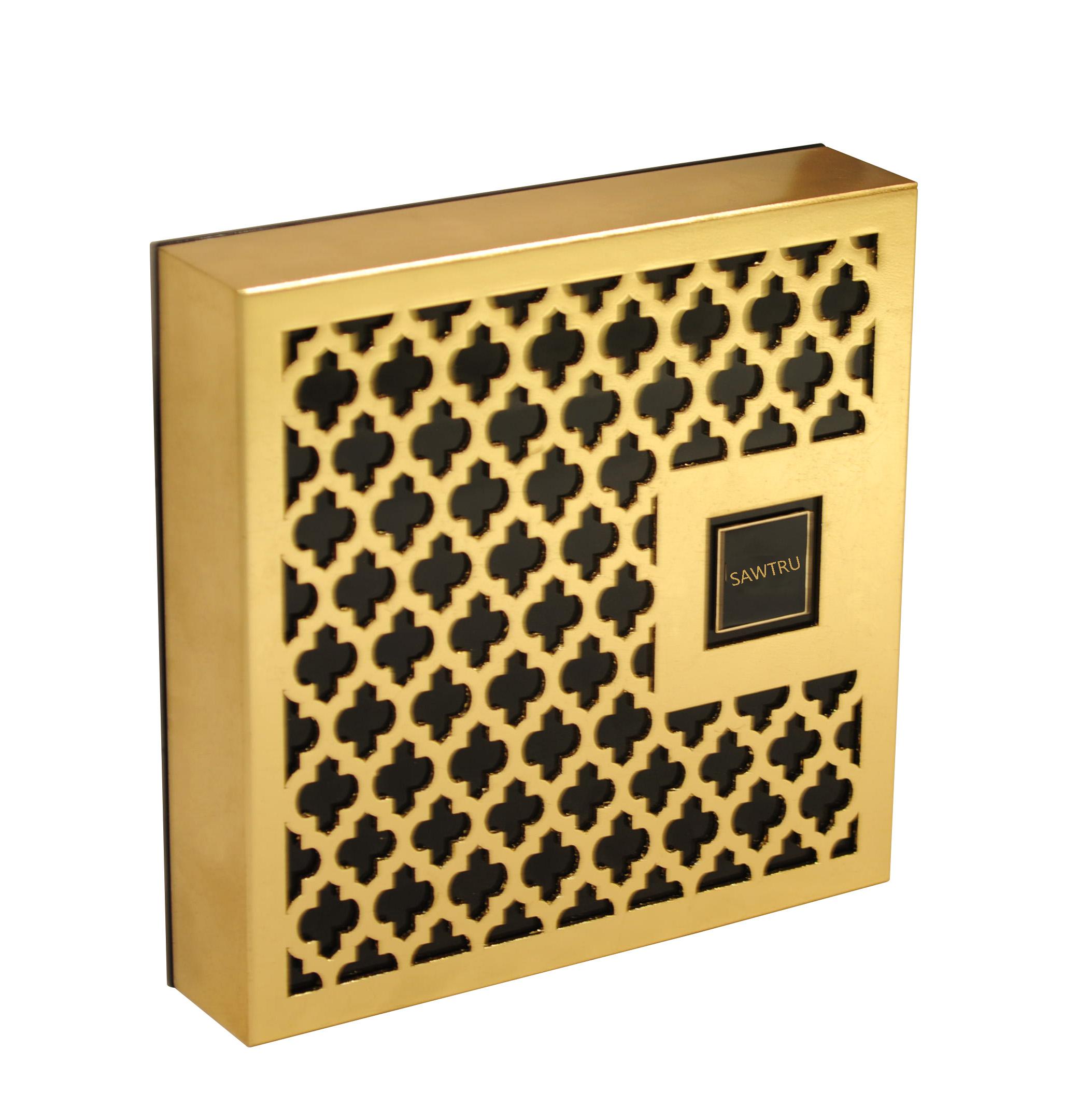 Wholesale Wooden Engrave Box Laser Cutting Wood Gold Foil