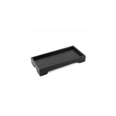 Small Wooden Black Painting Tea Serving Trays Wholesale