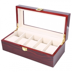SAWTRU Luxury High-end  Painting Wooden Watch Box 5  Grids with Window