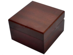 Wholesale Single Rectangle Red/Black Painting Wooden Watch  Box