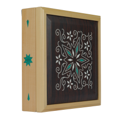 SAWTRU Rectangle Big Wooden Chocolate Packaging Box with Simple Pattern