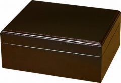 Elegant Rectangle Brown Painting Wooden Cigar Humidor with Ambedded Magnetic Lid