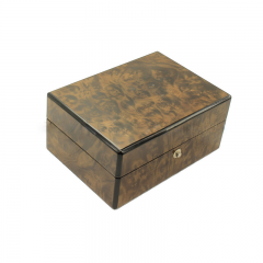 SAWTRU   Elegant Rectangle Brown Painting Wooden Perfume Box