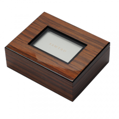 SAWTRU Luxury Venner Double Layer Wooden Chocolate Box/Packing Box for Gift with Window