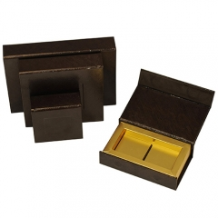 SAWTRU Brown Paper Golden Chocolate Box/Candy Chocolate Packing Box Manufacturer