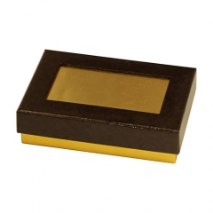SAWTRU Brown Paper Magnetic Chocolate Box/Candy Chocolate Packing Box with Window Manufacturer