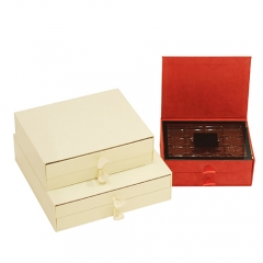 SAWTRU Elegant Rectangle Single/Double Layer Cardboard/Candy Box for Chocolate Packing Velvet with Acrylic Clapboard
