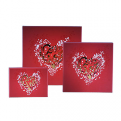 Wholesale Red Design Paper Chocolate Box/Candy Packing for Selling Factory
