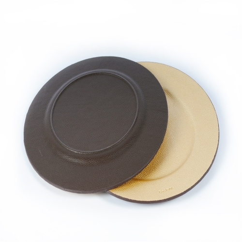 Luxury Wholesale Round PU Serving Tray for  Bar/Hotel/Restaurant