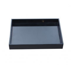 White/Black/Silver Handcraft Painting Wooden Tray