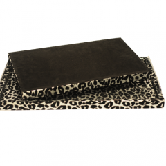 SAWTRU Rectangle Leopart PU Wooden Serving Tray for Arab