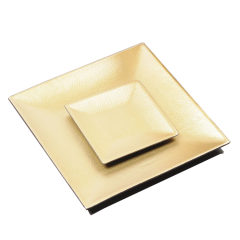 SAWTRU Golden PU Bar Serving Tray