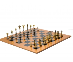 Painting Wooden International Chess