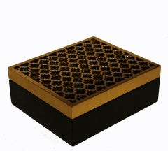 Tea Box Wooden Painting Laser Cutting with Divider