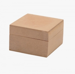 MDF Boxes with Lift Off Lids,Pair Of Chunky Square Mdf Boxes