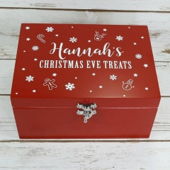 Red Wooden Christmas Eve Box, Christmas Eve Gift Ideas