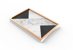 Fashion Wood MARBLE Painting Trays With Handles