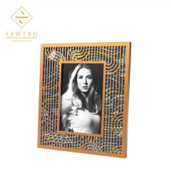2019 High Quality Rectangle Gold Wooden Photo Frame With Engraved Lid
