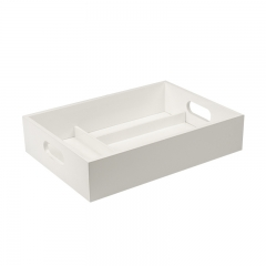 Painting white wooden tray with dividers Wholesale